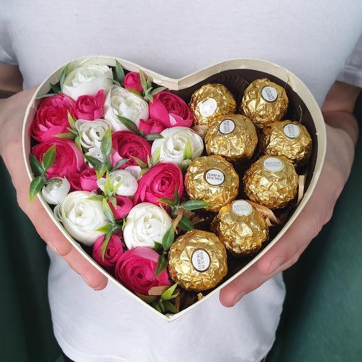 Сердце белое: букеты цветов на заказ Flowwow