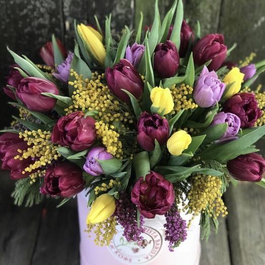 Тюльпановая весна: букеты цветов на заказ Flowwow