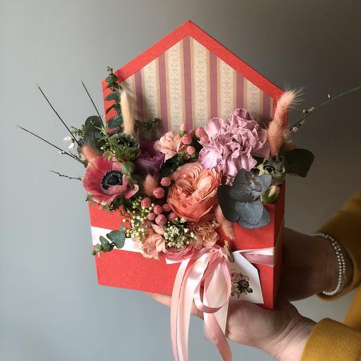 Конвертик любви: букеты цветов на заказ Flowwow
