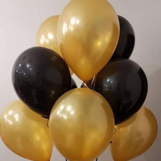 Черные и золотые шары