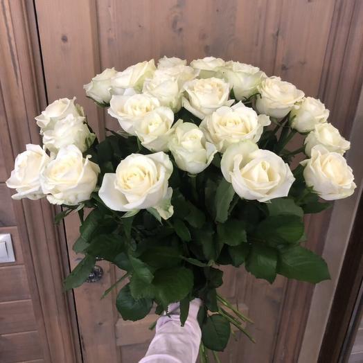 """Букет из белых роз """"25 белых розочек"""""""