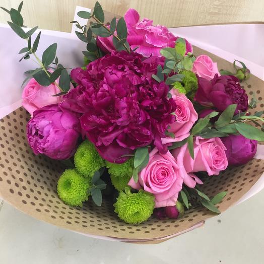 Нежная малина: букеты цветов на заказ Flowwow