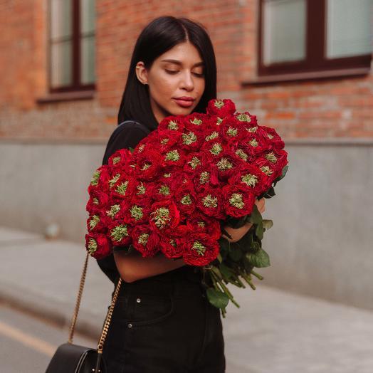 """Букет """"51 Красная Роза пушистая"""": букеты цветов на заказ Flowwow"""
