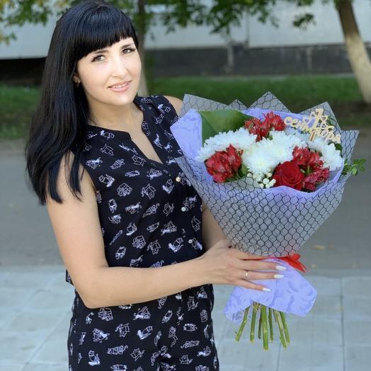Букет поздравительный: букеты цветов на заказ Flowwow
