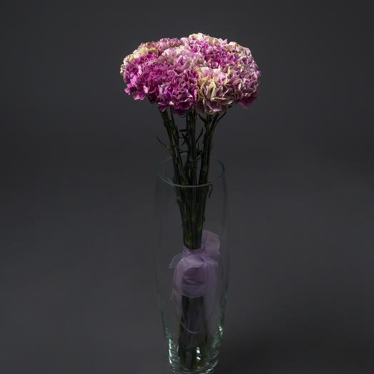 """Букет """"15 Малиново-розовых Гвоздик"""": букеты цветов на заказ Flowwow"""
