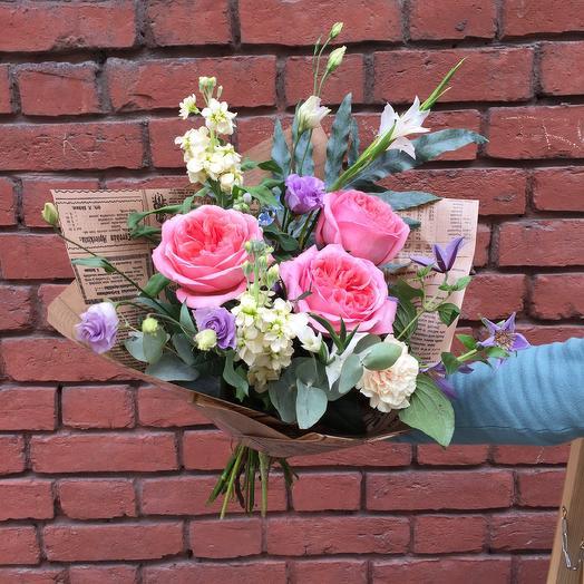 Букет с ароматной розой: букеты цветов на заказ Flowwow