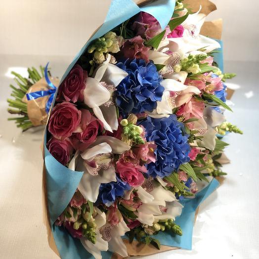 Вдохновлен твоей улыбкой: букеты цветов на заказ Flowwow