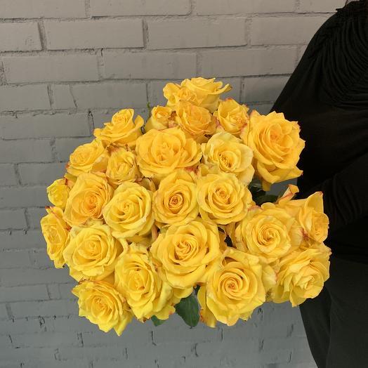 Шикарный букет из 25 роз: букеты цветов на заказ Flowwow