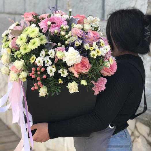 Большая композиция в коробке: букеты цветов на заказ Flowwow
