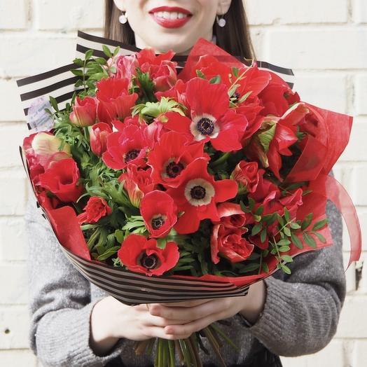 Анемоны 35: букеты цветов на заказ Flowwow