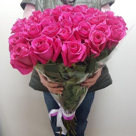 Розы топаз 47шт: букеты цветов на заказ Flowwow