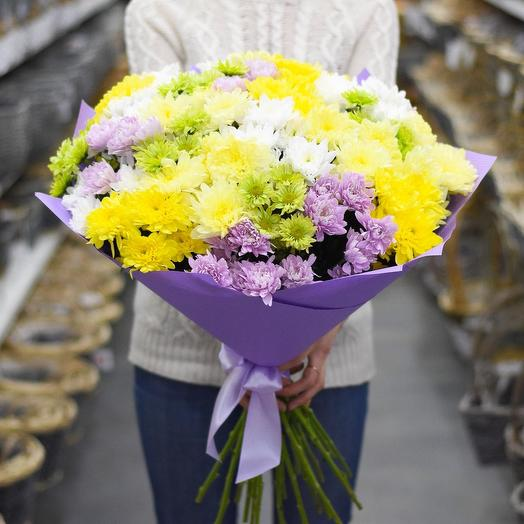 Микс из хризантем: букеты цветов на заказ Flowwow