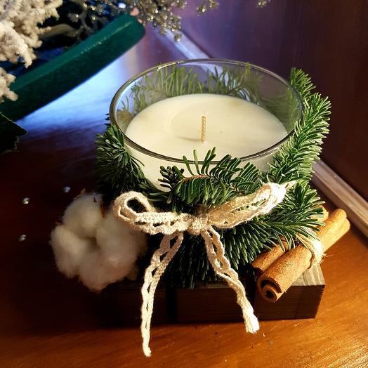 Новогодняя свеча 3