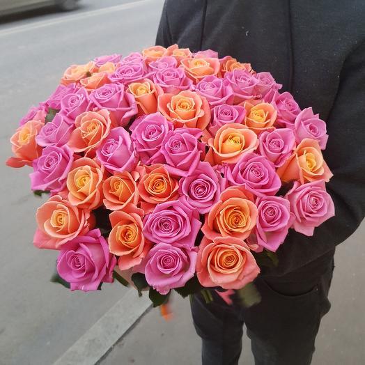51 роза микс 👌: букеты цветов на заказ Flowwow