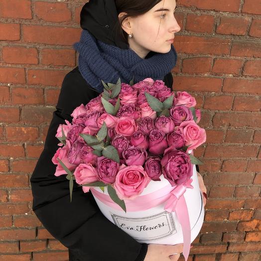 Микс роз в коробке: букеты цветов на заказ Flowwow