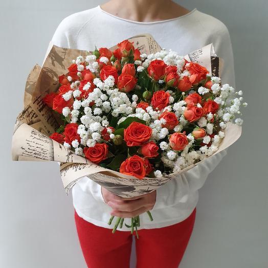 Оранжевое лето: букеты цветов на заказ Flowwow