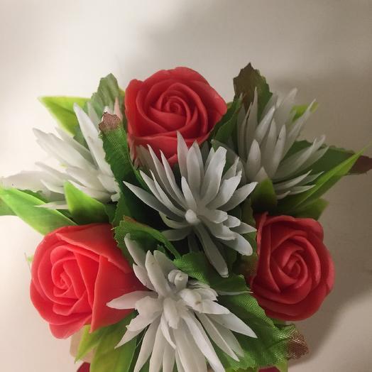 Ретро,, Мыло ручной работы к коробочке крафт с красным бантиком: букеты цветов на заказ Flowwow