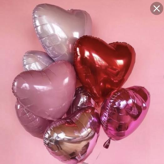 Шарики микс сердца 7 шт