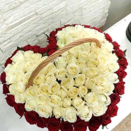 101 роза сердце