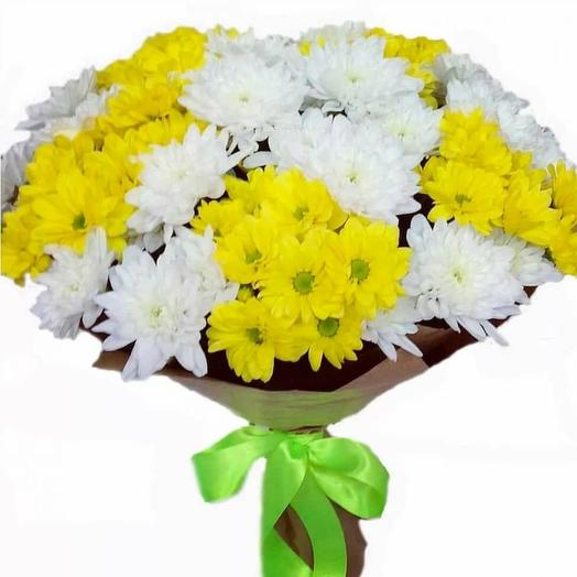 Букет из хризантемы микс (цвет упаковки может отличаться от фотографии)