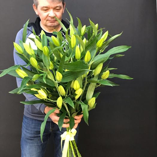 A large bouquet of lilies
