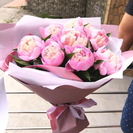 A bouquet of fragrant peonies Pearl