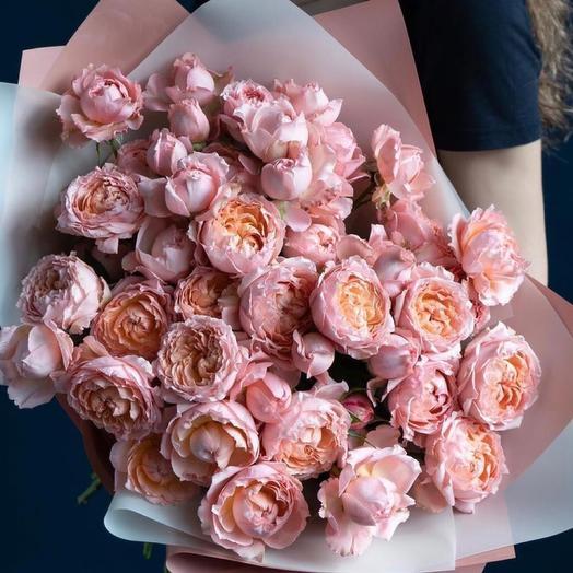 Букет из пионовидной розы ,,Нежность