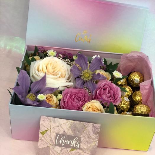 Набор цветы+конфеты