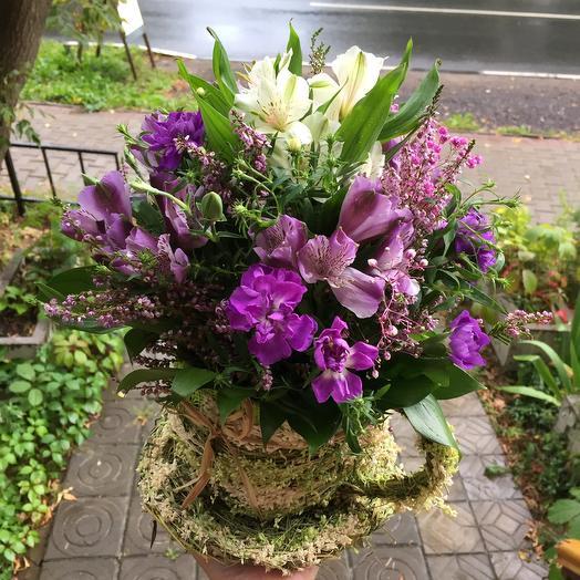 Чашечка с цветами
