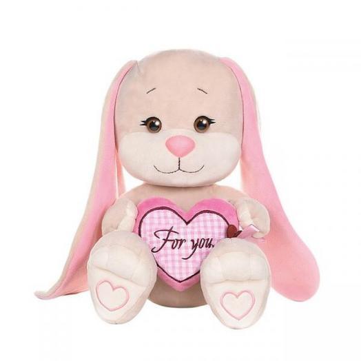 Jack Lin Зайка с розовым сердцем, 25см