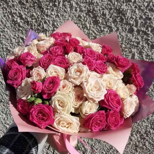 Мисс нежность с кустовыми розами