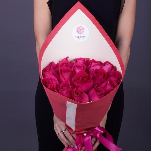 19 роз Pink Floyd, Эквадор 60 см., Premium