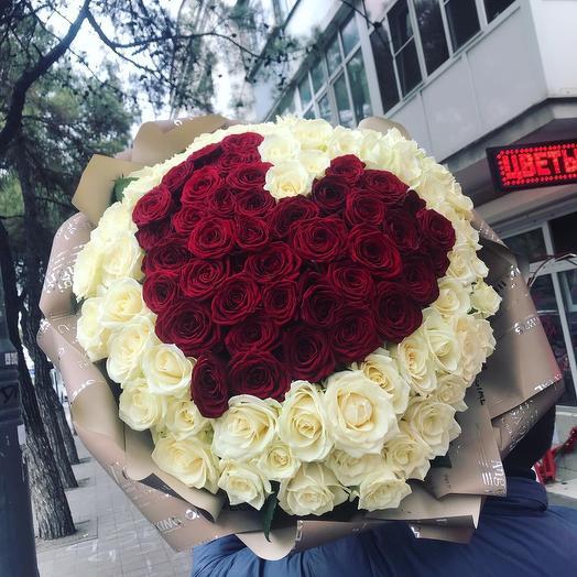 101 Роза с сердцем