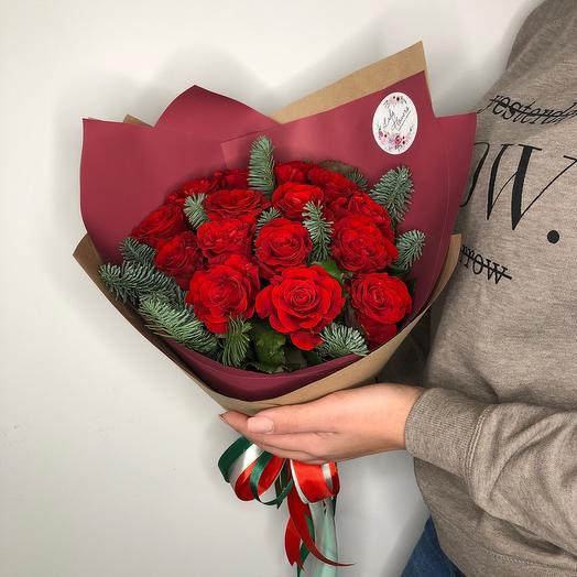 Lady Flowers - 15 роз «зимний вечер»