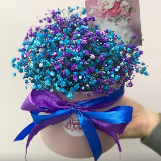 Bright box with baby's breath mix