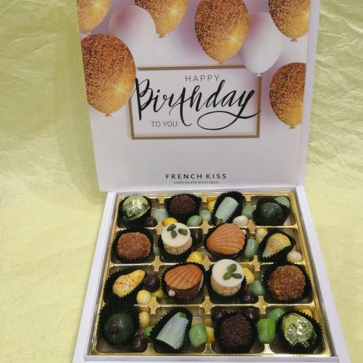 Набор конфет ручной работы FRENCH KISS SPB 10/1 С днем рожденья 2