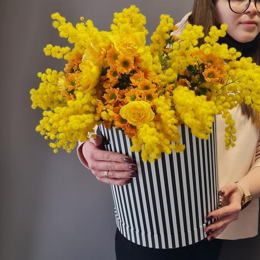 Цветы в коробке Весна