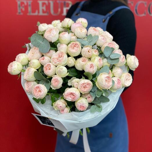 МОНОБУКЕТ из пионовидных роз