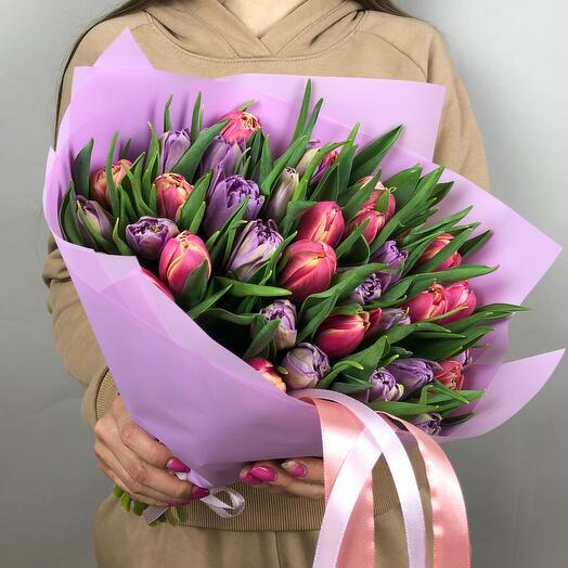 Микс из Пионовидных тюльпанов
