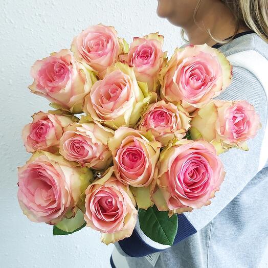Монобукет Роза Esperance (одноголовая) 60 см под ленту - 13 шт