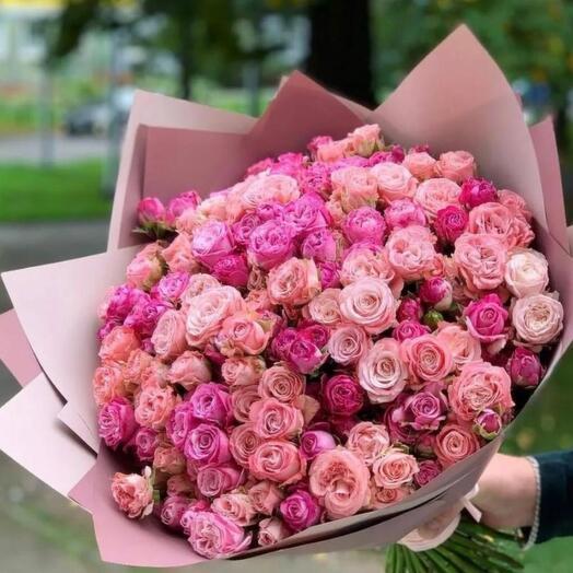 15 кустовых роз бомбастик