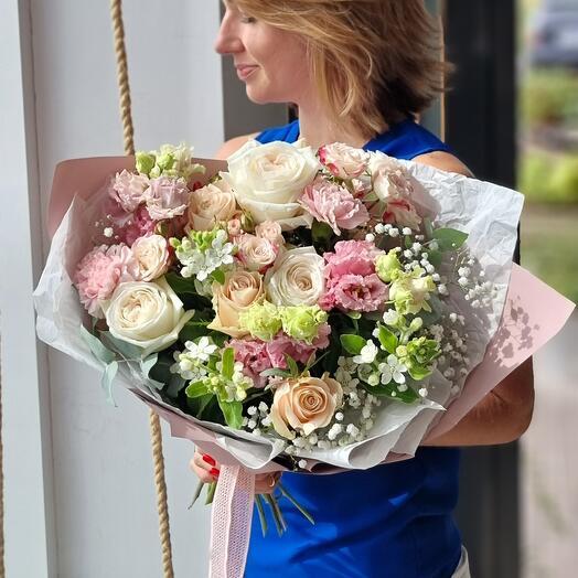 Букет с розой