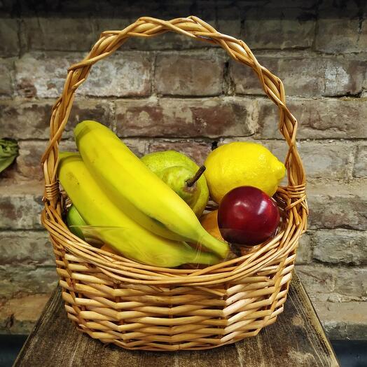 Корзина мини 3 с фруктами