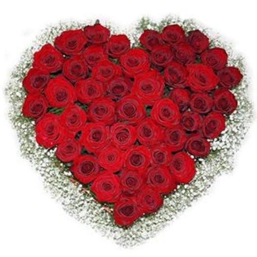 Сердце из красных роз Гран-При: букеты цветов на заказ Flowwow
