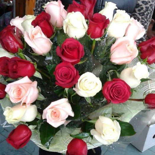Букет 31 голландская роза: букеты цветов на заказ Flowwow