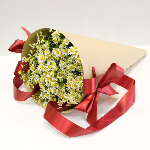 Букет из ромашек Любимые ромашки: букеты цветов на заказ Flowwow