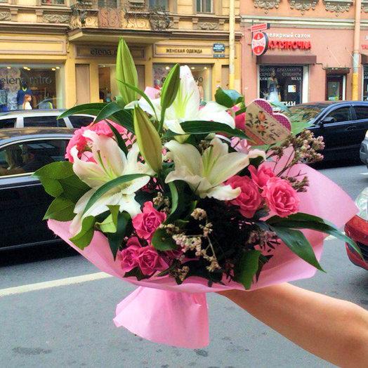 Розовые мечты (Букет 273): букеты цветов на заказ Flowwow