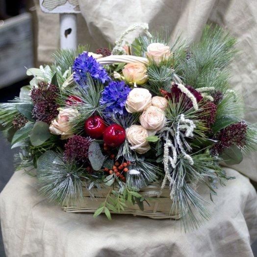 Зимнее лукошко: букеты цветов на заказ Flowwow