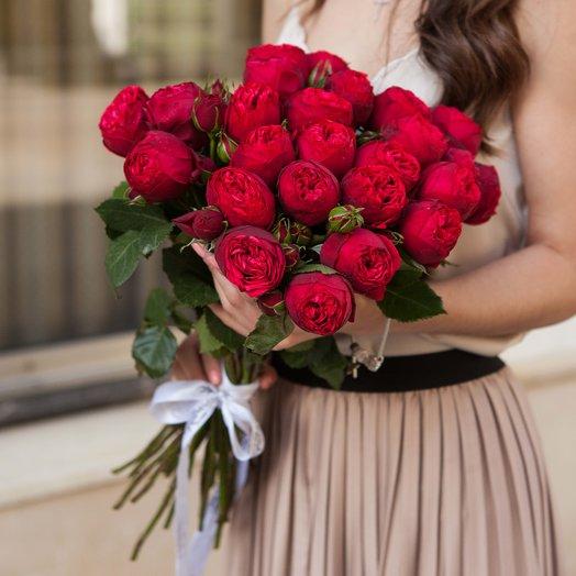 Букет из 25 роз Red Piano