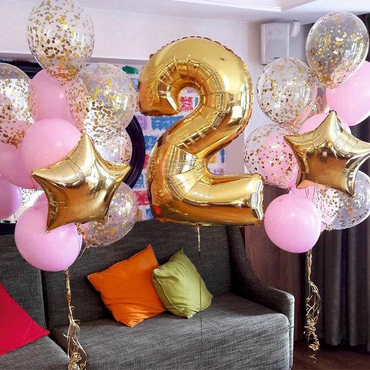 """Композиция из воздушных шаров """"Праздник принцессы"""""""